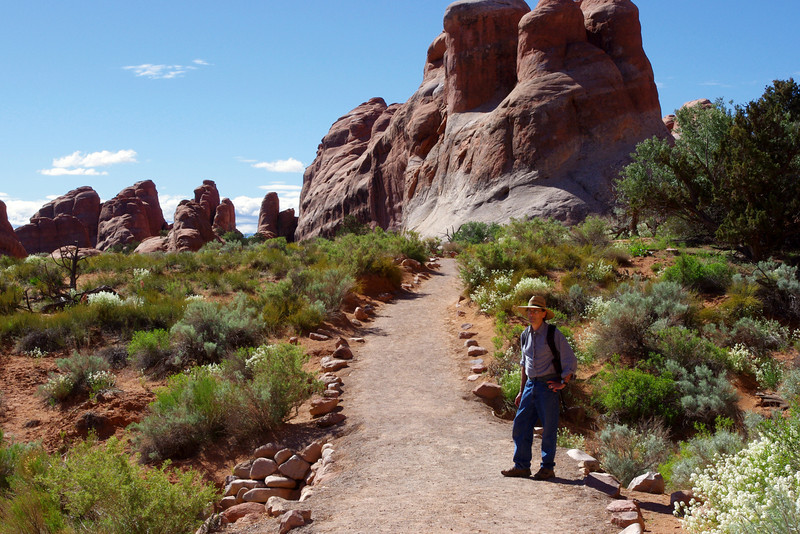Gary on the Landscape Arch Trail, Arches National Park, Utah