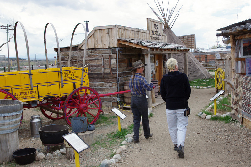 The White Mountain Trading Post Living Museum, Fort Garland, Colorado.