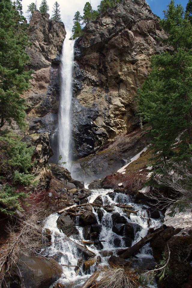 Waterfall on US 160 near Wolf Creek Pass.