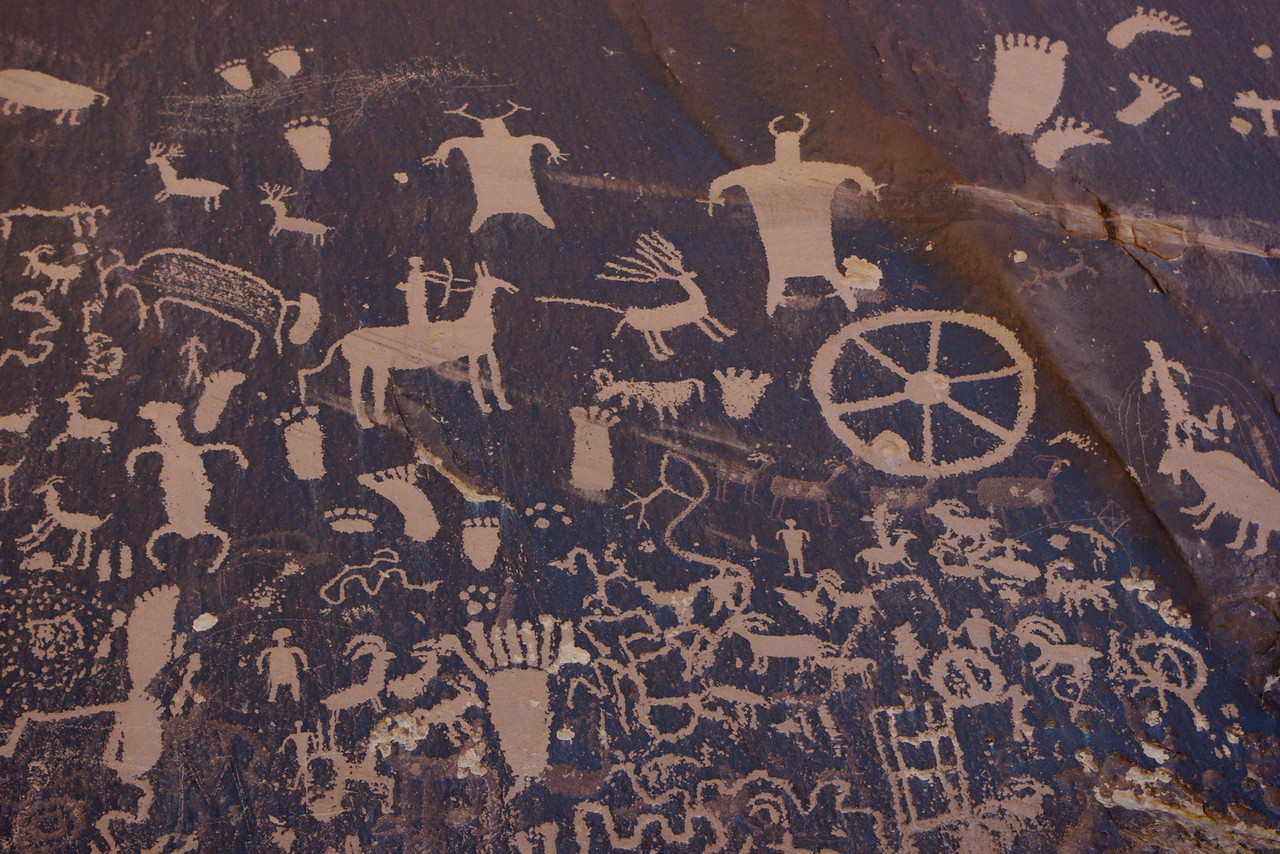 Newspaper Rock State Historic Site, detail.