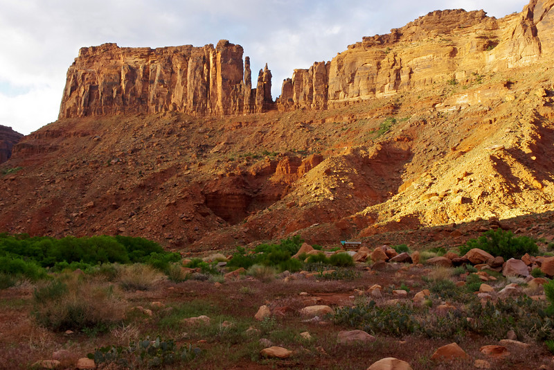 This is the view just across the road, behind our Hal Canyon campsite.