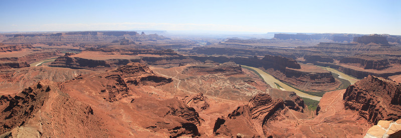 Panorama from the lookout at Dead Horse Point State Park.  The river is the Colorado.
