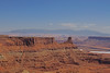 View from Canyonlands National Park towards the Henry(?) Mountains.
