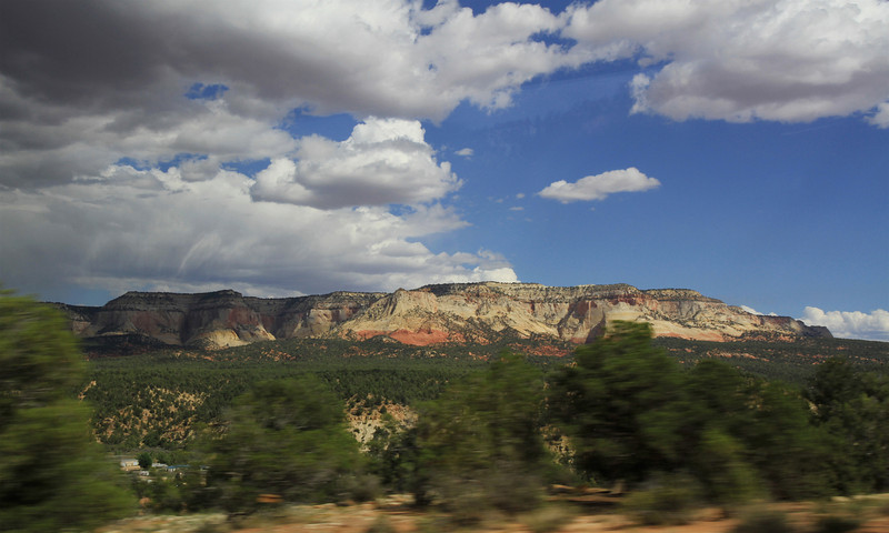 View from the road en route to Ruby's.  Maybe the back of Cedar Breaks?