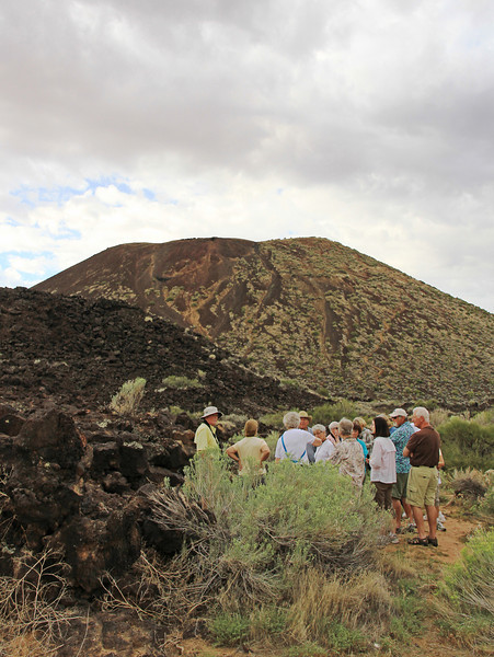 A geo moment near the cinder cone.