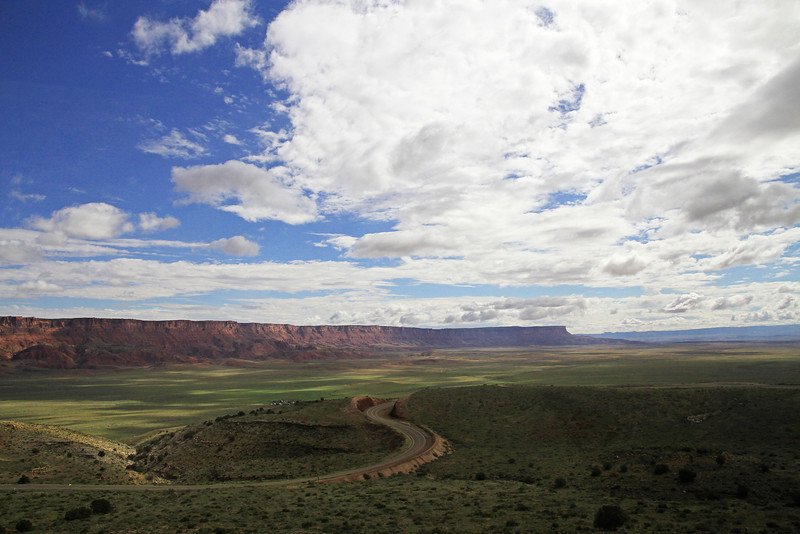 The Vermilion Cliffs, looking back towards Lee's Ferry.