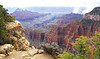 From the North Rim.  Bright Angel Canyon is the dark canyon in the center of the picture.