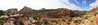 A panorama across the Fremont canyon.