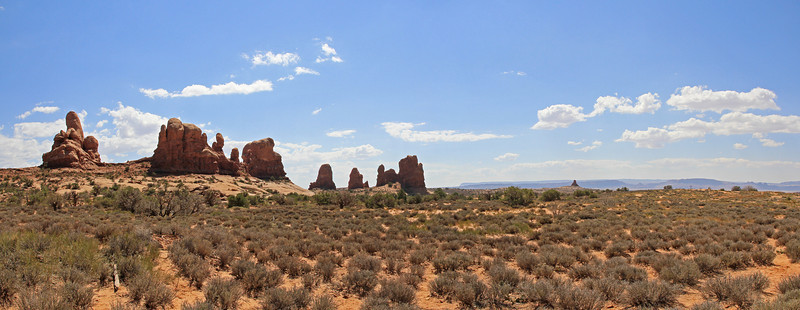 Panorama. Turret Arch in the foreground.