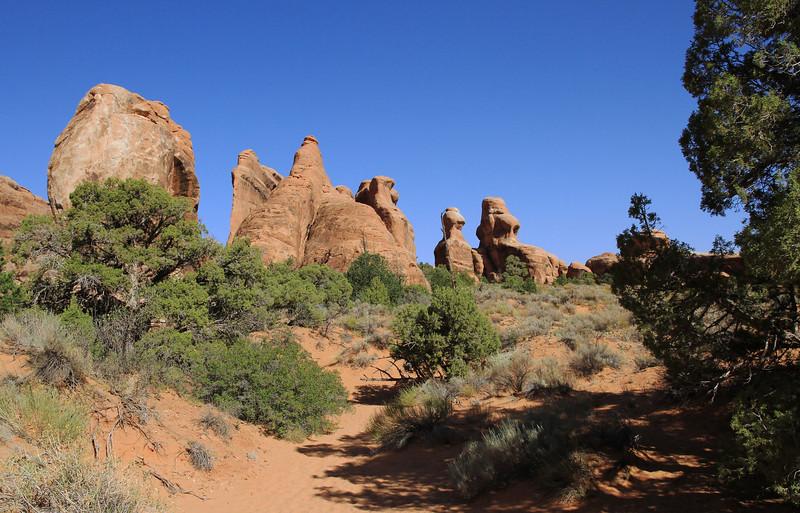 Devil's Garden trail en route to Landscape Arch.