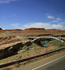 Bridge over the San Juan River on the way to Monument Valley.