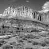 Wayne Wonderland and Capitol Wash in black and white, Capitol Reef National Park