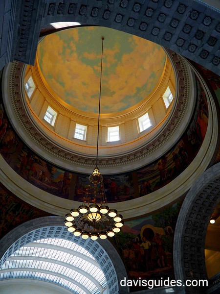 View of interior dome, Utah State Capitol, Salt Lake City