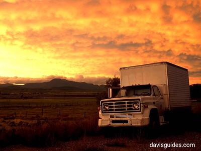 Old truck and clearing storm, Panguitch Utah