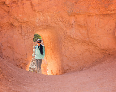 Ann on the Queen's Garden Trail, Bryce Canyon NP
