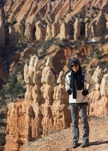 Ann on the Fairyland Loop Trail.  Bryce Canyon NP