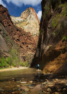 Entrance to the Narrows.  Zion NP