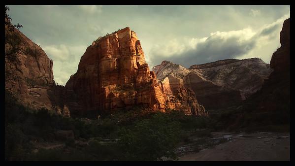 Angel's Landing in Morning Light.  Zion NP