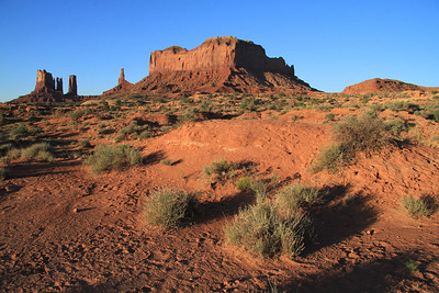 looking south into Monument Valley