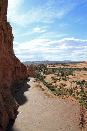 Back down the trail from Delicate Arch