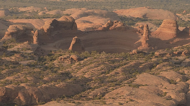 Unusual view of Delicate Arch in Arches National Park, UT.<br /> (can you recognize it?)<br /> May 7, 2011