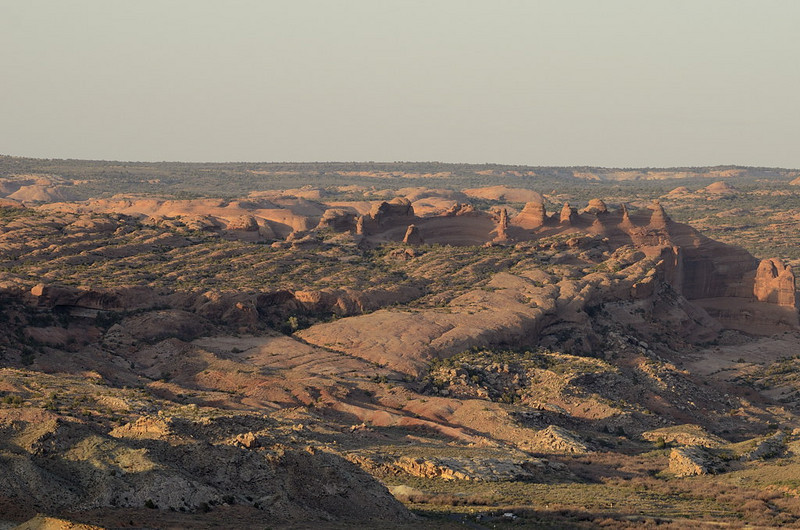 Overview in Arches National Park, UT. including Delicate Arch<br /> (can you recognize it?)<br /> May 7, 2011
