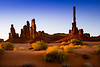 Totem Pole at sunrise, Monument Valley. March 21, 2013.