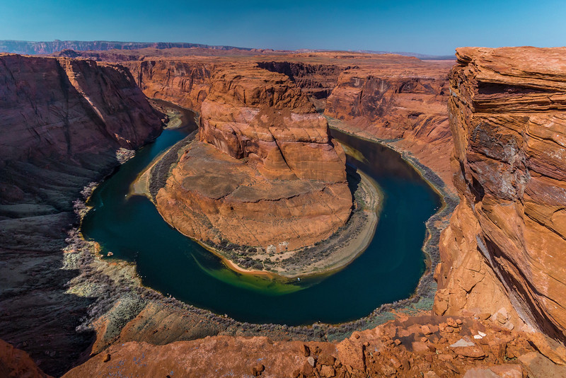 Horseshoe Bend, about 5 miles south of Mesa Arizona. Better bring your wide angle lens for this shot. This was 10MM on an APS-C format camera.