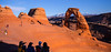 Delicate Arch, the iconic symbol of not only Arches National Park, but all of Utah itself. It is featured prominently on the state's auto license plates.
