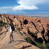 Arches NP. Trail to double-O arch.
