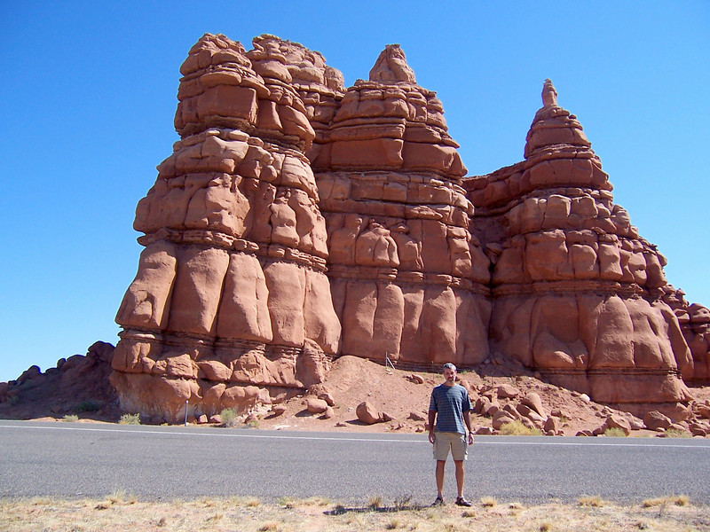 On the way to Goblin Valley.