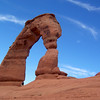 Delicate Arch from the canyon side.