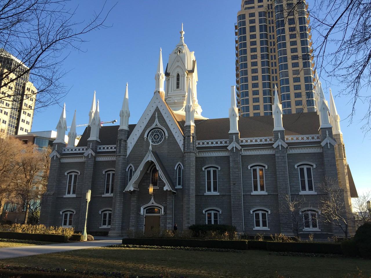 At the Mormon Temple Salt Lake City