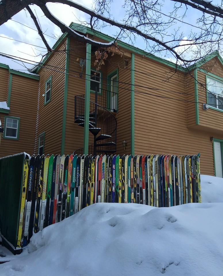Ski fence!