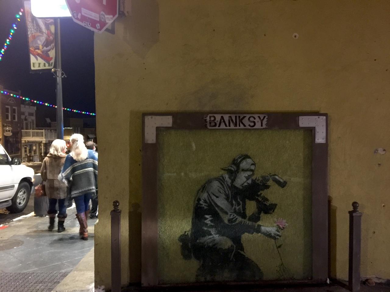 Banksy on Main St Park City