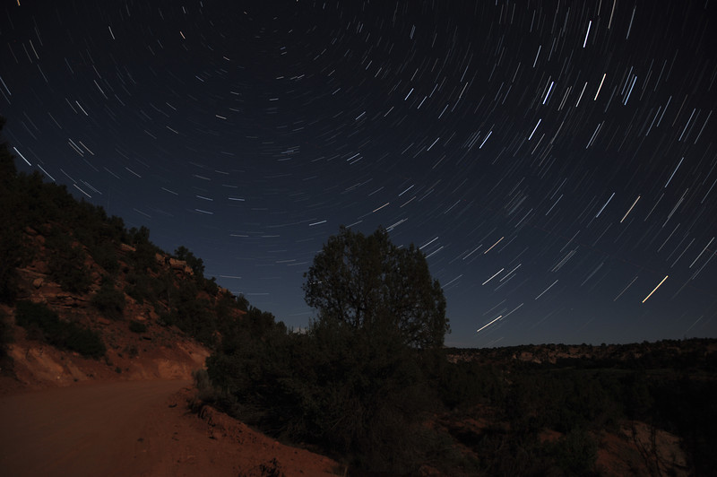 Star Trails in Angel Canyon. This is one of my favorite shots from the trip.