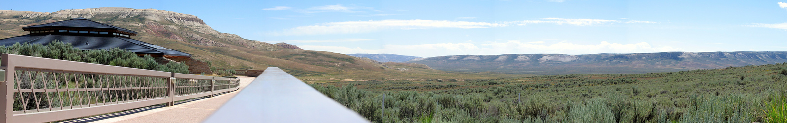 Fossil Butte, Wyoming, visitor center. Panoramic view.