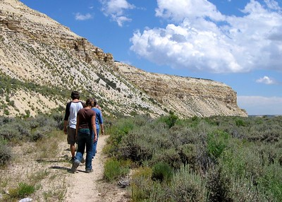 Fossil Butte, Wyoming. The quarry trail.