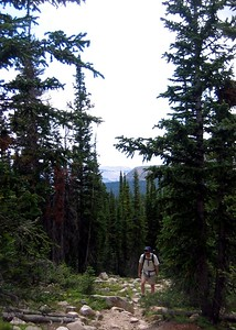 The hike to Lofty Lake in Utah's Uintas. On our way up. The trailhead is off the Mirror Lake highway, a short drive east of Kamas.