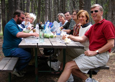 Yellowstone National Park. Lunch near the Continental Divide.