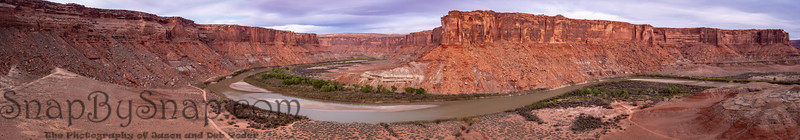 An aerial panorama of Mineral Canyon, looking south into Canyonlands National Park above the Green River
