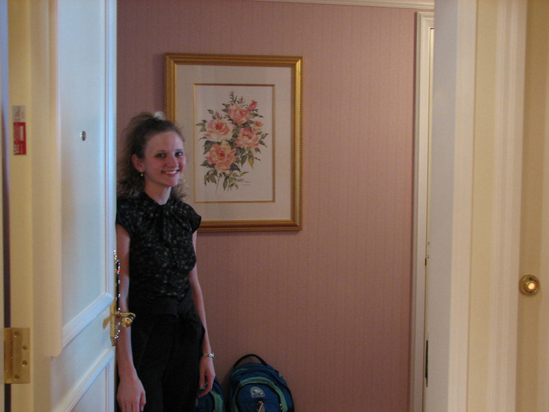 Christina Viewing Our Incredible Grand America Hotel Suite - Thank You Nature's Sunshine!