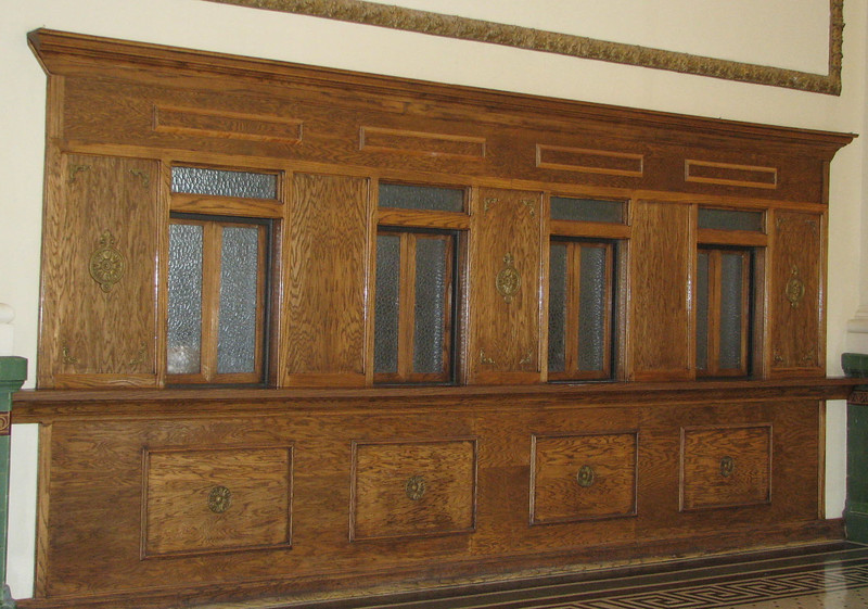 Old Ticket Windows in Train Station