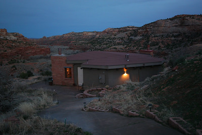The Kiva Kottage.  Highly recommended, 10 miles east of Escalante, two rooms and a hot breakfast.