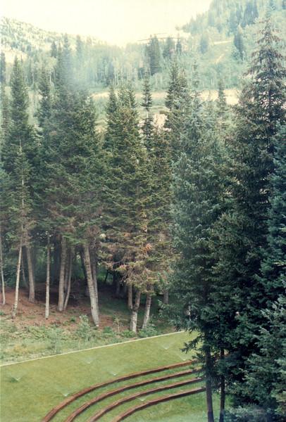 View From Hotel Window - Snowbird Resort, Utah  8-9-89