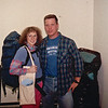 Donna and Bill - Heading Out - Our Week in the Wilderness  10-4-89