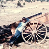 Ben With Hand Cart - Our Week in the Wilderness  10-6-89