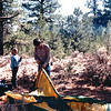 Ben & Randal Putting Up Tent (Our Luxury) - Our Week in the Wilderness  10-6-89