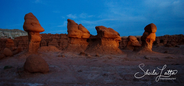 Hoodoos at twighlight