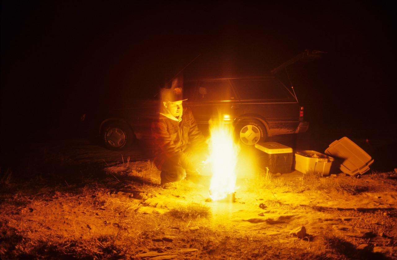 Camping near Muley Point - November 1988